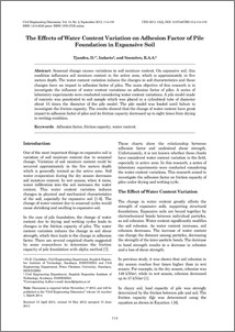 THE EFFECTS OF WATER CONTENT VARIATION ON ADHESION FACTOR OF